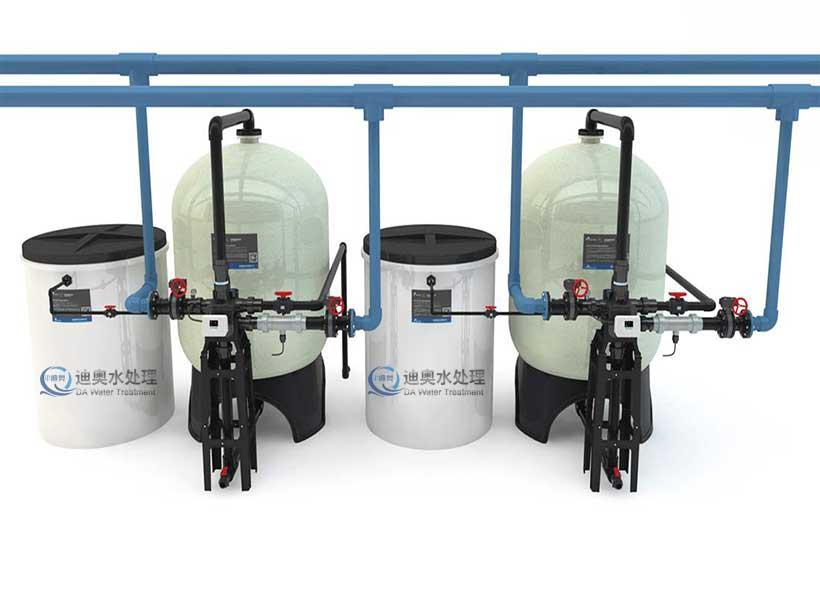 双罐流量控制软化水设备